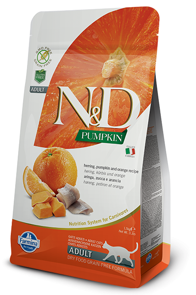N&D Grain Free Adult Pumpkin Herring (Katze)
