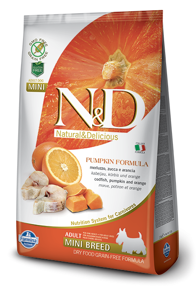 N&D Grain Free Adult Mini Pumpkin Codfish & Orange (Hund)