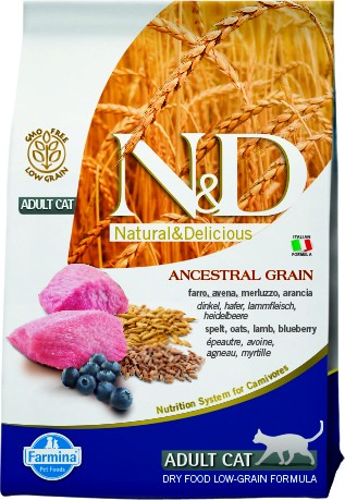 N&D Low Grain Adult Lamb & Blueberry (Katze)
