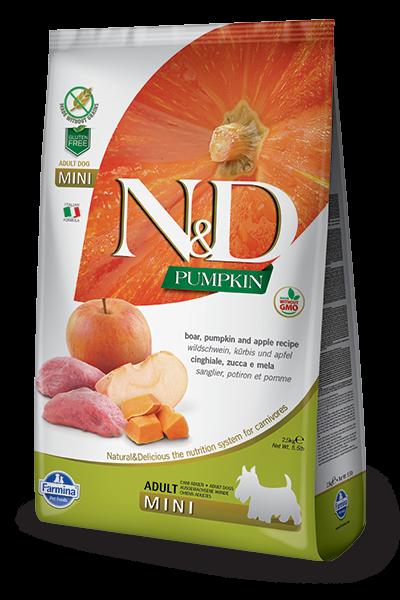 N&D Grain Free Adult Mini Pumpkin Boar & Apple (Hund)