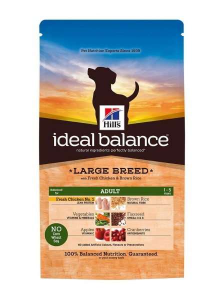 Ideal Balance™ Canine Adult Large Breed Huhn & Brauner Reis (Hund)
