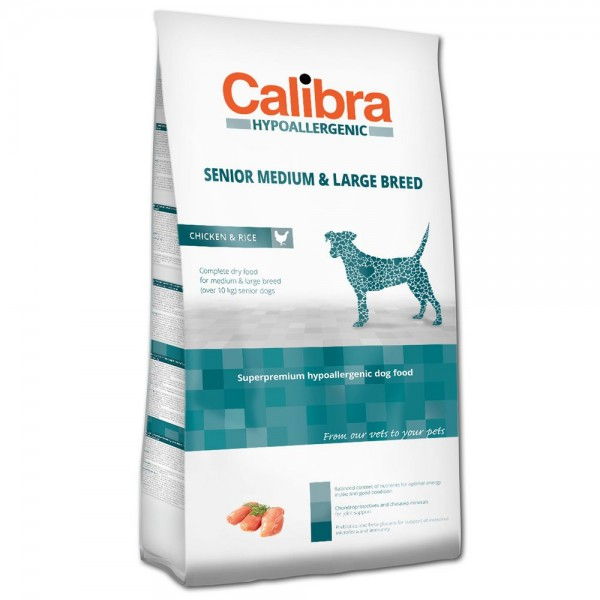 Calibra Hypoallergenic Senior Medium & Large Breed Chicken & Rice (Hund)