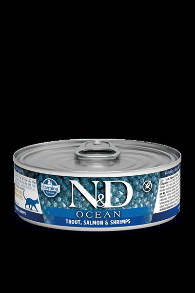 N&D Ocean Forelle, Lachs & Garnelen (Katze)
