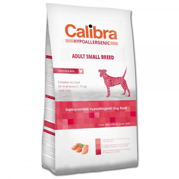 Calibra Hypoallergenic Adult Small Breed Chicken & Rice (Hund)