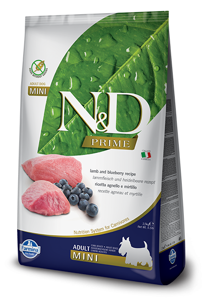 N&D Grain Free Adult Mini Lamb & Blueberry (Hund) | MDPETFOOD