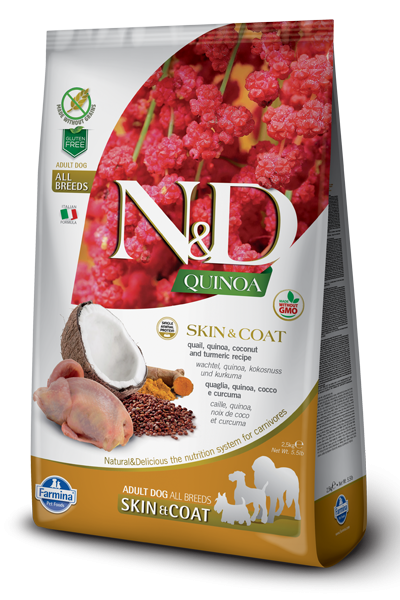 N&D Grain Free Adult Quinoa Skin & Coat Quail (Hund)