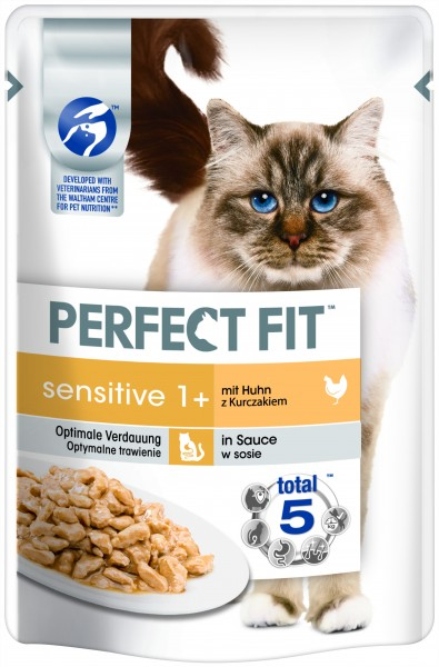 Perfect Fit Sensitive 1+ mit Huhn in Sauce 85g