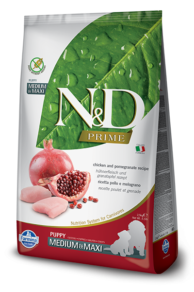 N&D Grain Free Puppy Medium & Maxi Chicken & Pomegranate (Hund)