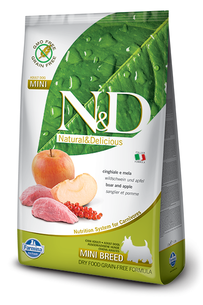 N&D Grain Free Adult Mini Boar & Apple (Hund)
