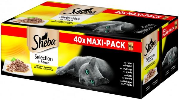 Sheba Selection in Sauce Geflügel Variation Frischebeutel 40x85g (Katze)