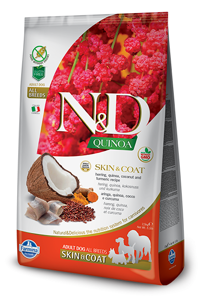 N&D Grain Free Adult Quinoa Skin & Coat Herring (Hund)