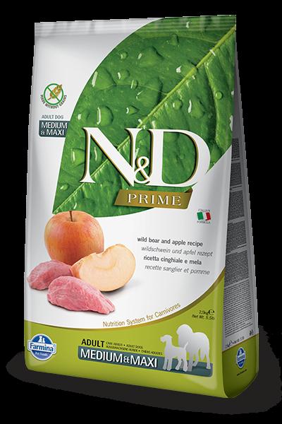 N&D Grain Free Adult Medium & Maxi Wild Boar & Apple (Hund)