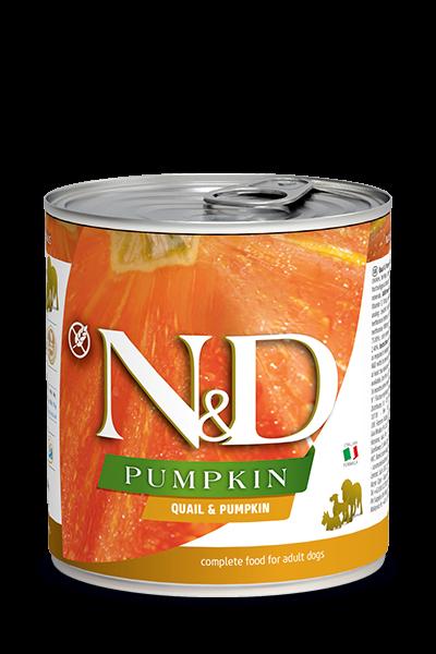 N&D Pumpink Adult - Wachtel & Kürbis (Hund)