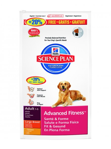 Canine Adult Advanced Fitness Large Breed Huhn (Hund)