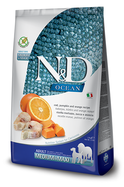 N&D Grain Free Herring, Pumpkin & Orange Adult Medium & Maxi