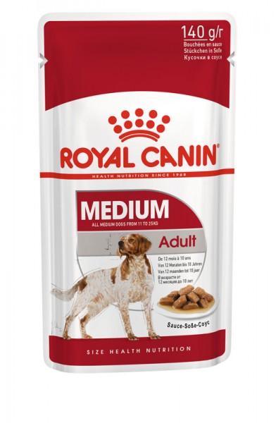 Medium Adult in Soße Frischebeutel (Hund)