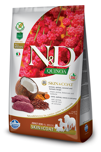 N&D Grain Free Adult Quinoa Skin & Coat Venison (Hund)