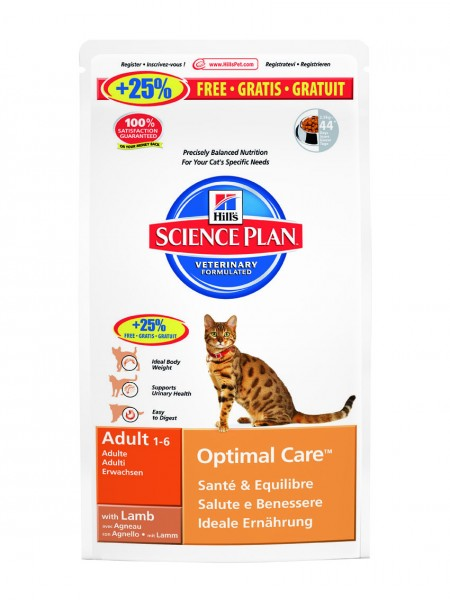 Feline Adult Optimal Care Lamm (Katze)