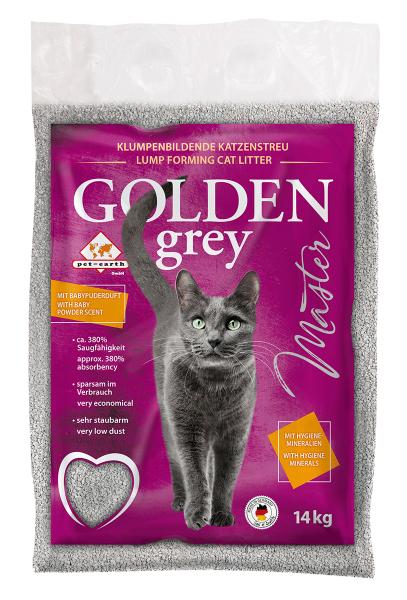 Golden Grey Master Katzenstreu mit Babypuderduft online kaufen