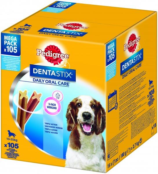 Pedigree Dentastix Megapack 105 Stk. Hunde Zahnpflegesnack günstig kaufen