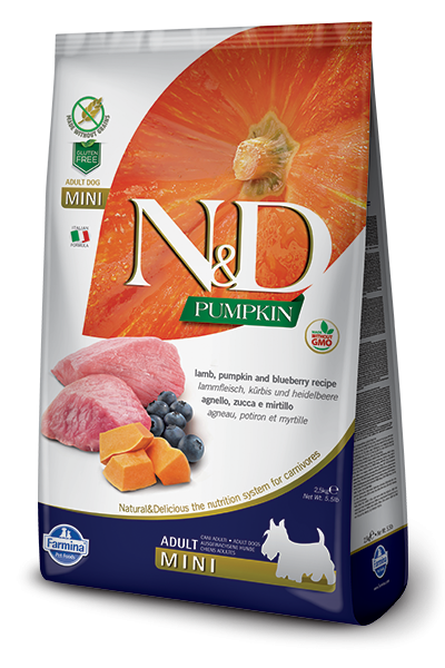 N&D Grain Free Adult Mini Pumpkin Lamb & Blueberry (Hund)