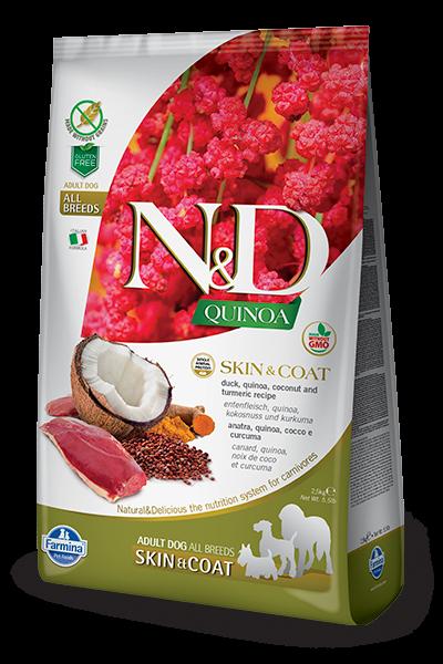 N&D Grain Free Adult Quinoa Skin & Coat Duck (Hund)