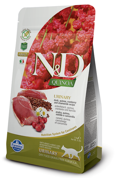 N&D Grain Free Adult Quinoa Urinary Duck (Katze)