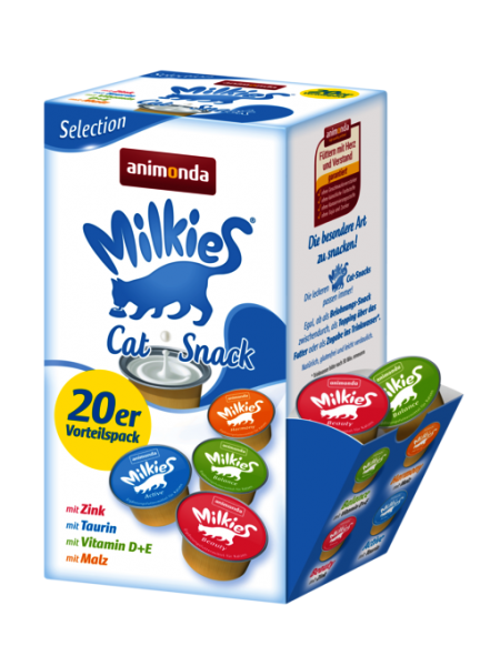 Katzensnack Milkies Selection Cups 20x15g