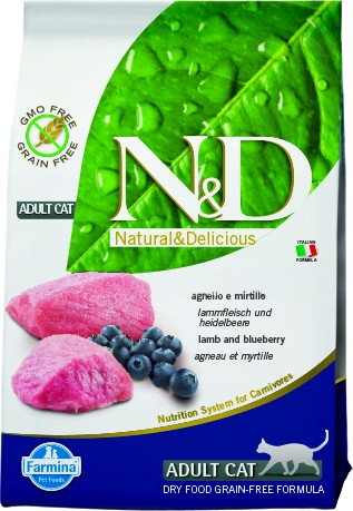 N&D Grain Free Adult Lamb & Blueberry (Katze)