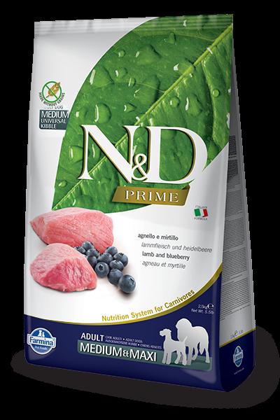 N&D Grain Free Adult Lamb & Blueberry Medium & Maxi | MDPETFOOD