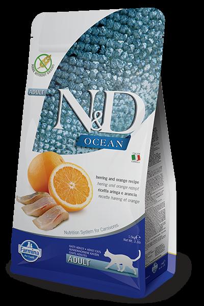 Farmina N&D Grain Free Hering & Orange Adult