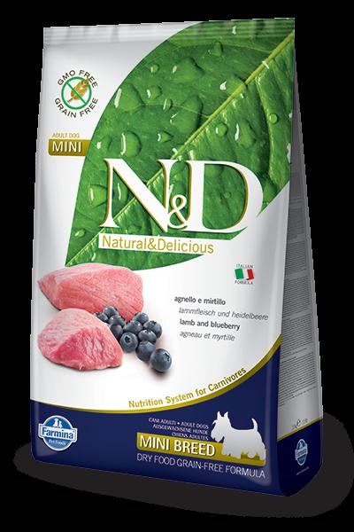 N&D Grain Free Adult Mini Lamb & Blueberry (Hund)