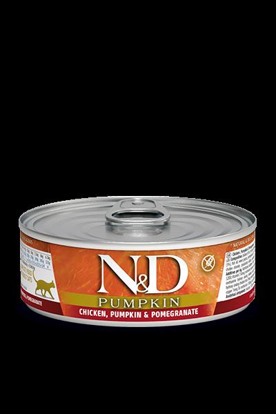 N&D Pumpink Adult Huhn, Kürbis & Granatapfel (Katze)
