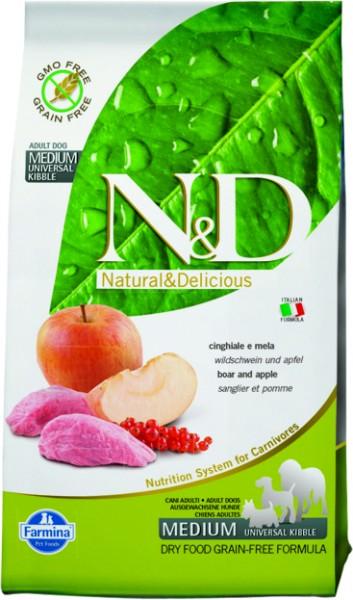 N&D Grain Free Adult Medium Boar & Apple (Hund)