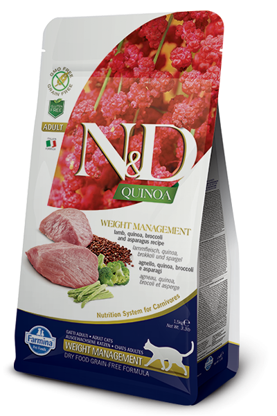 N&D Grain Free Adult Quinoa Weight Management Lamb (Katze)