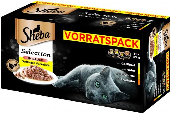 Sheba Selection in Sauce Geflügel Variation Vorratspackung 36x85g günstig kaufen