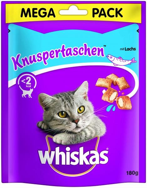 Whiskas Knuspertaschen Megapack mit Lachs Katzensnack günstig kaufen