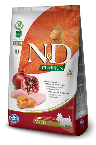 N&D Grain Free Adult Mini Pumpkin Chicken & Pomegranate (Hund)