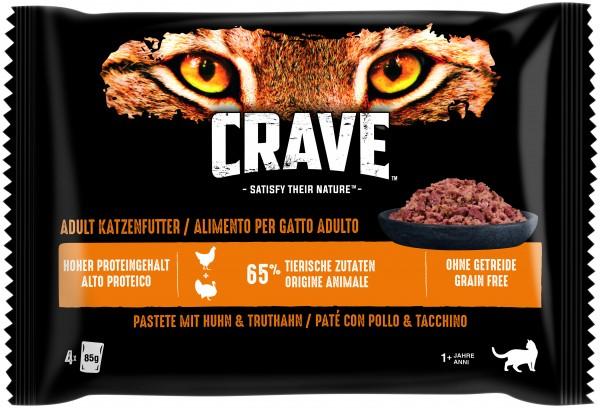 Crave Pastete mit Huhn & Truthahn Frischebeutel (Katze)