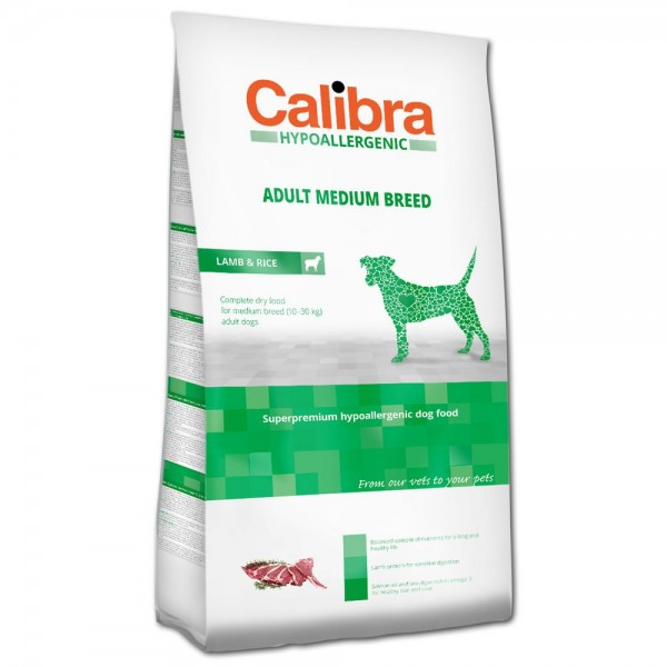 Calibra Hypoallergenic Adult Medium Breed Lamb & Rice (Hund)