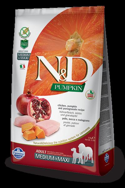 N&D Grain Free Adult Medium/Maxi Pumpkin Chicken & Pomegranate (Hund)