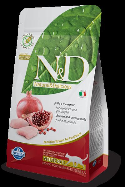 N&D Grain Free Adult Neutered Chicken & Pomegranate (Katze)
