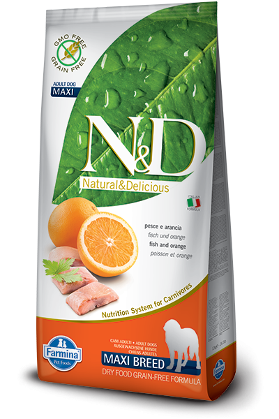 N&D Grain Free Adult Maxi Fish & Orange (Hund)