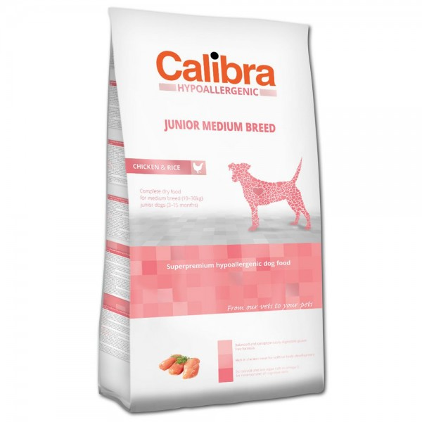 Calibra Hypoallergenic Junior Medium Breed Chicken & Rice