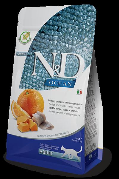 N&D Grain Free Hering, Pumpkin & Orange Adult (Katze)