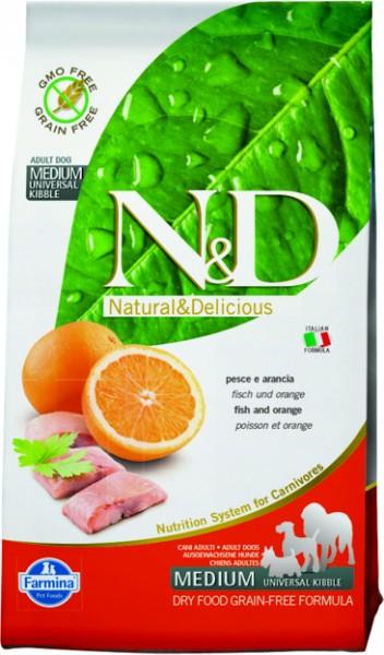 N&D Grain Free Adult Medium Fish & Orange (Hund)