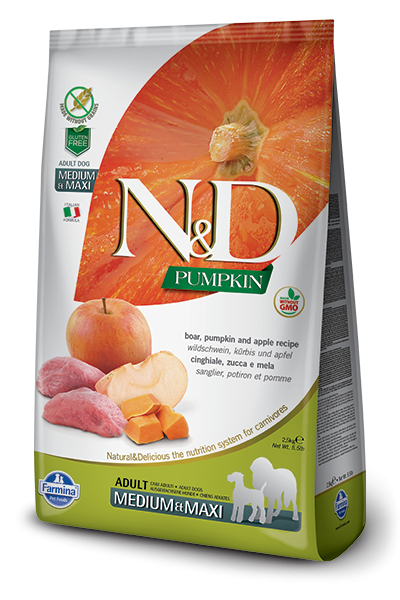 N&D Grain Free Adult Medium/Maxi Pumpkin Boar & Apple (Hund)
