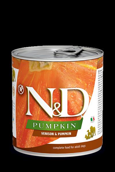 N&D Pumpink Adult - Hirsch & Kürbis (Hund)