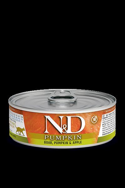 N&D Pumpink Adult - Wildschwein, Kürbis & Apfel (Katze)