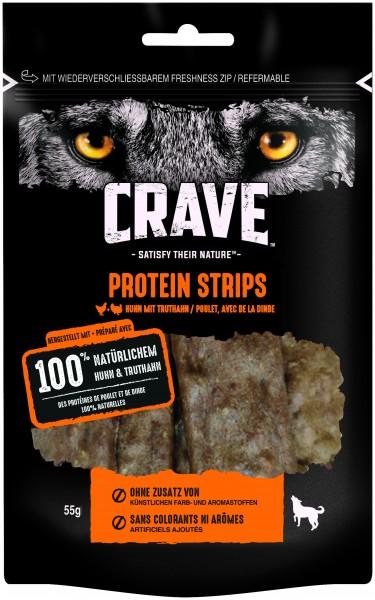 Crave Protein Strips Huhn & Truthahn (Hund)